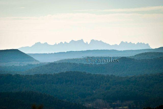 Montserrat des del Pla de Can Roig