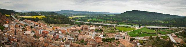 Panoramica des del Castell de Jorba