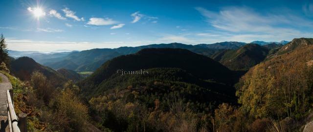 Panoramica des de Montgrony