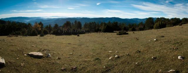 Panoramica des del Camp de l'Ordi