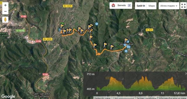 GR 176 La Ruta de les Ermites Romaniques 1ª Etapa de Valldeperes a Castelladral