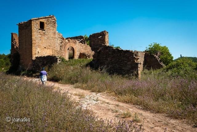 El Graner i al fons, en petit a la dreta, la Torre de Castellnou
