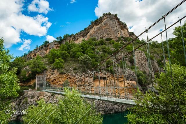 Pont per creuar el barranc
