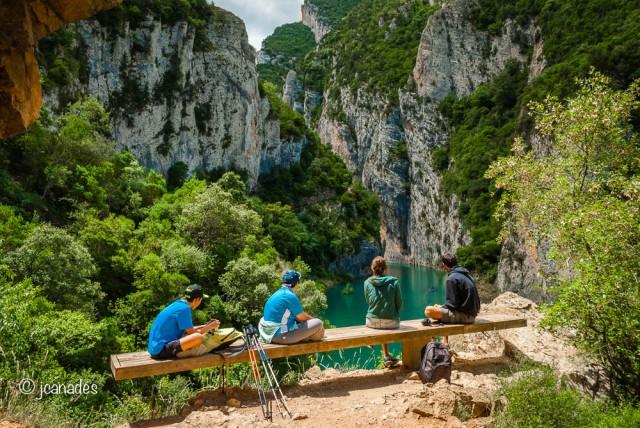 Contemplant el Congost de Mont-rebei